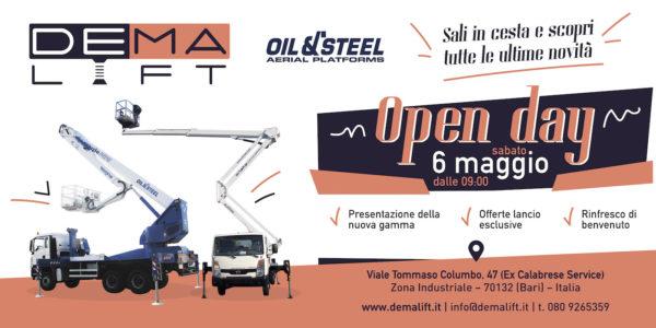 OPEN DAY - DEMALIFT e OIL & STEEL - Sali in cesta e scopri tutte le novità - 6 maggio 2017
